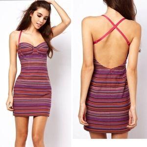 ASOS Mini Dress In Blocked Geo-Tribal